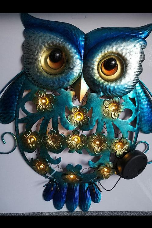 Solar LED Owl Wall Art