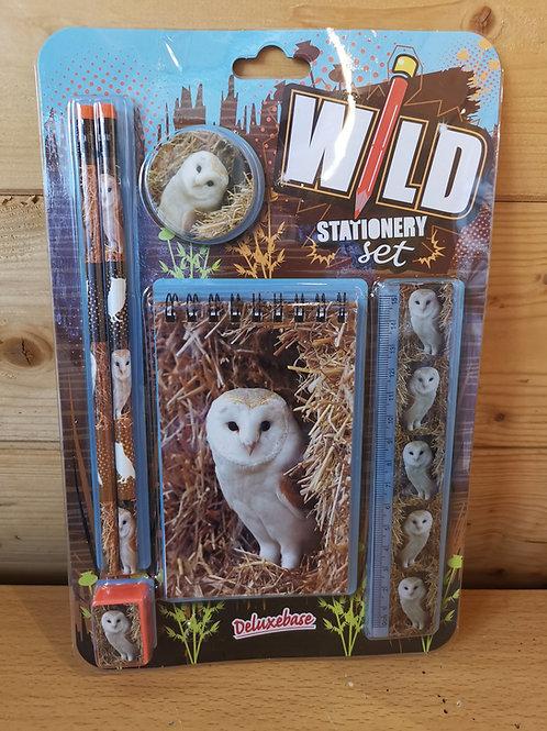 Barn Owl Stationary Set