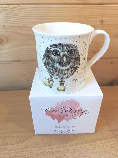 Little Owl in Boots China mug