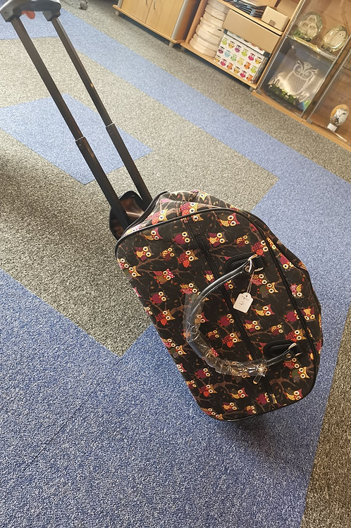 Owl Luggage Bag with retractable handle