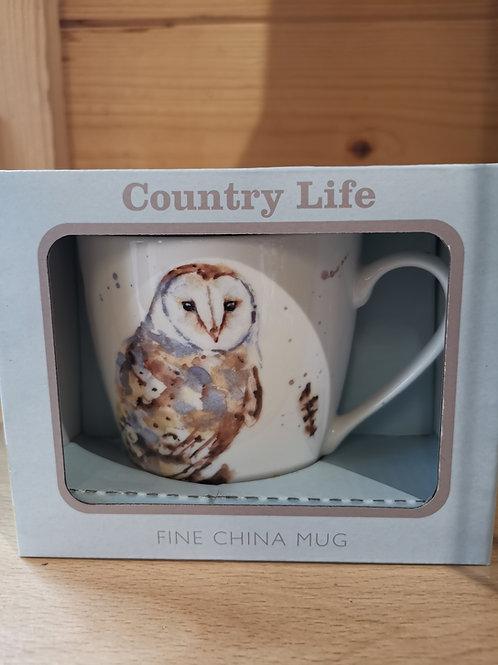 Country Life Owl Mug