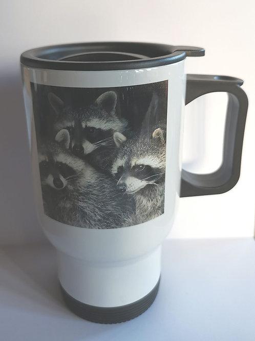 Raccoons Thermal Travel Mug