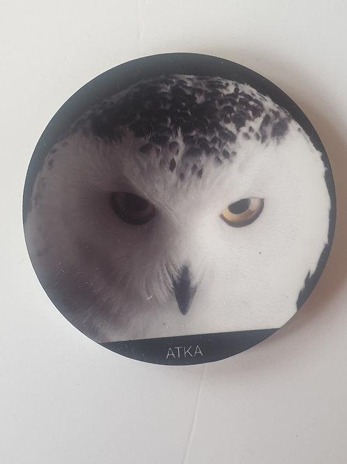 """""""Atka"""" Snowy Owl Magnet"""