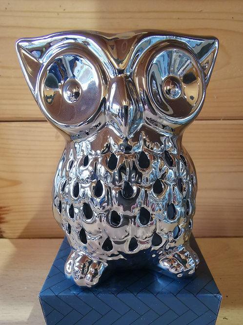 Plug in Ceramic Warmer Silver Owl