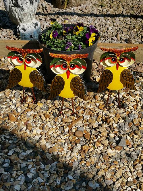 Metal 3D Garden Owl