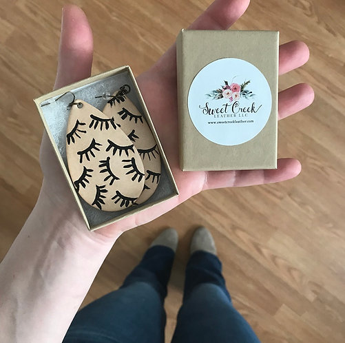 """""""Wild for Lashes"""" Leather Earrings"""