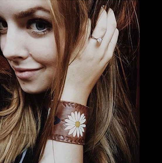 Handcrafted_Hand_Tooled_Leather_Flower_Cuffs_Hippie_Bracelets_Daisies_Sunflowers_!