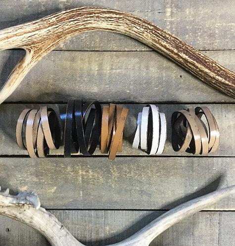 """""""TWISTED"""" Leather Triple Wrap Bracelet"""