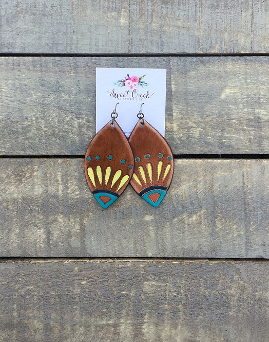 """""""FIESTA"""" Leather Earrings *YOU CHOOSE COLOR(S)"""