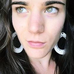 """BOHEMIAN"" Leather Cut-Out Earrings"