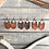 "Thumbnail: ""DAKOTA"" Chevron Leather Earrings"