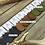 """Thumbnail: """"LEAF FOSSIL"""" Leather Teardrop Earrings"""