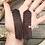 "Thumbnail: ""AZTEC"" Leather Fringe Earrings"
