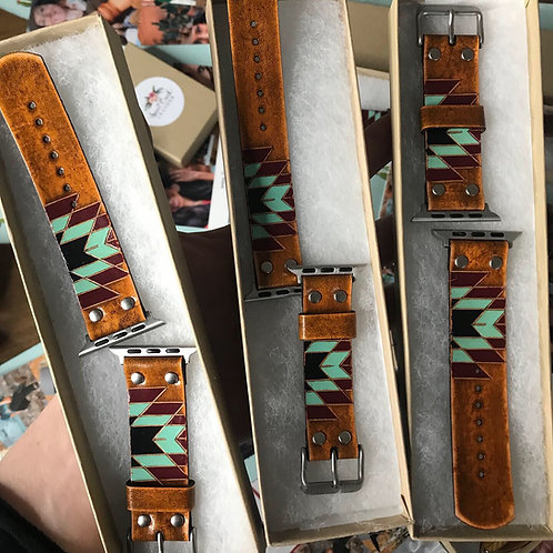 """""""CANYON"""" Leather iWatch Bands"""