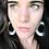 "Thumbnail: SKU# BCE1 ""BOHEMIAN"" Leather Cut-Out Earrings"