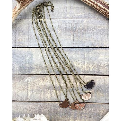 """MINI HALF CIRCLE"" Leather Necklaces"