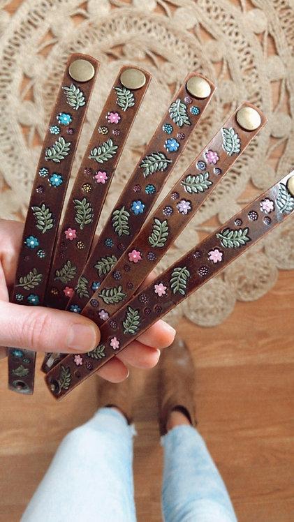 """""""WiLdfLoWeR"""" Leather Bracelets"""