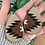 "Thumbnail: ""CANYON ARROW"" Leather Teardrop Earrings"