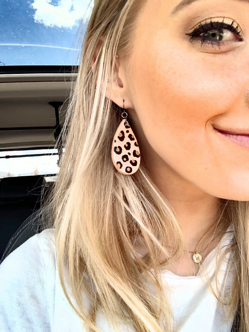 """MINI LEOPARD TEARDROP"" Earrings"