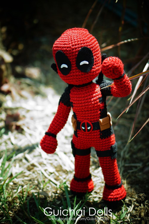 Deadpool Crochet Pattern | Ah - adorable superhero amigurumi ... | 1500x1000