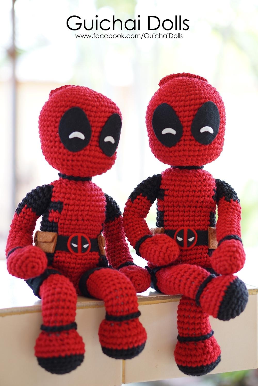 Marvel Deadpool amigurumi pattern superhero amigurumi | Etsy | 1497x1000