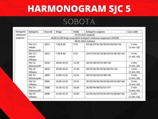 SAMEJUDO CUP 5 (SOBOTA) - harmonogram turnieju