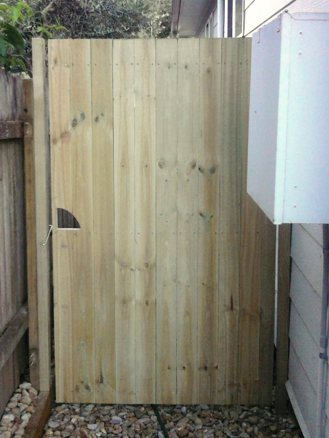 standard timber gate