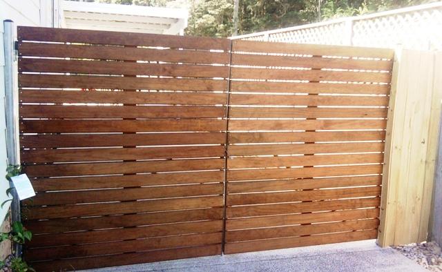 Hardwood double gates
