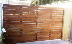 Hardwood double gates
