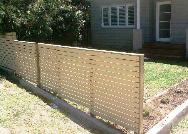 Decorative front fence