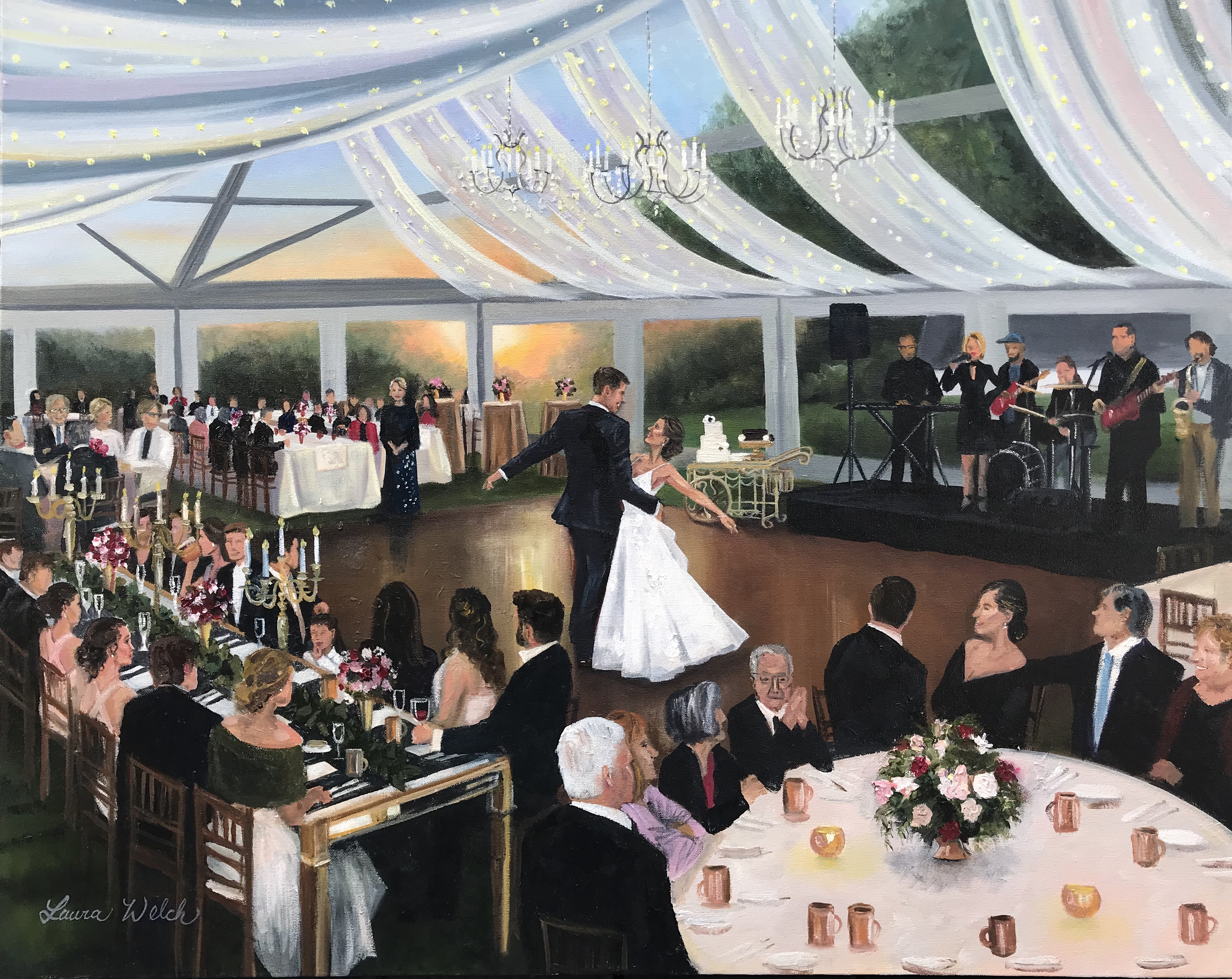 Baltimore Wedding Painting