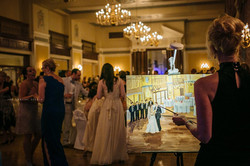Wedding painting in action...