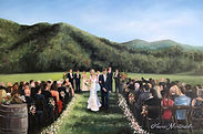 NC Mountain Wedding, event artist, wedding painter