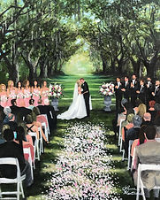 Wedding painting at Charlestowne Landing, Charleston, SC