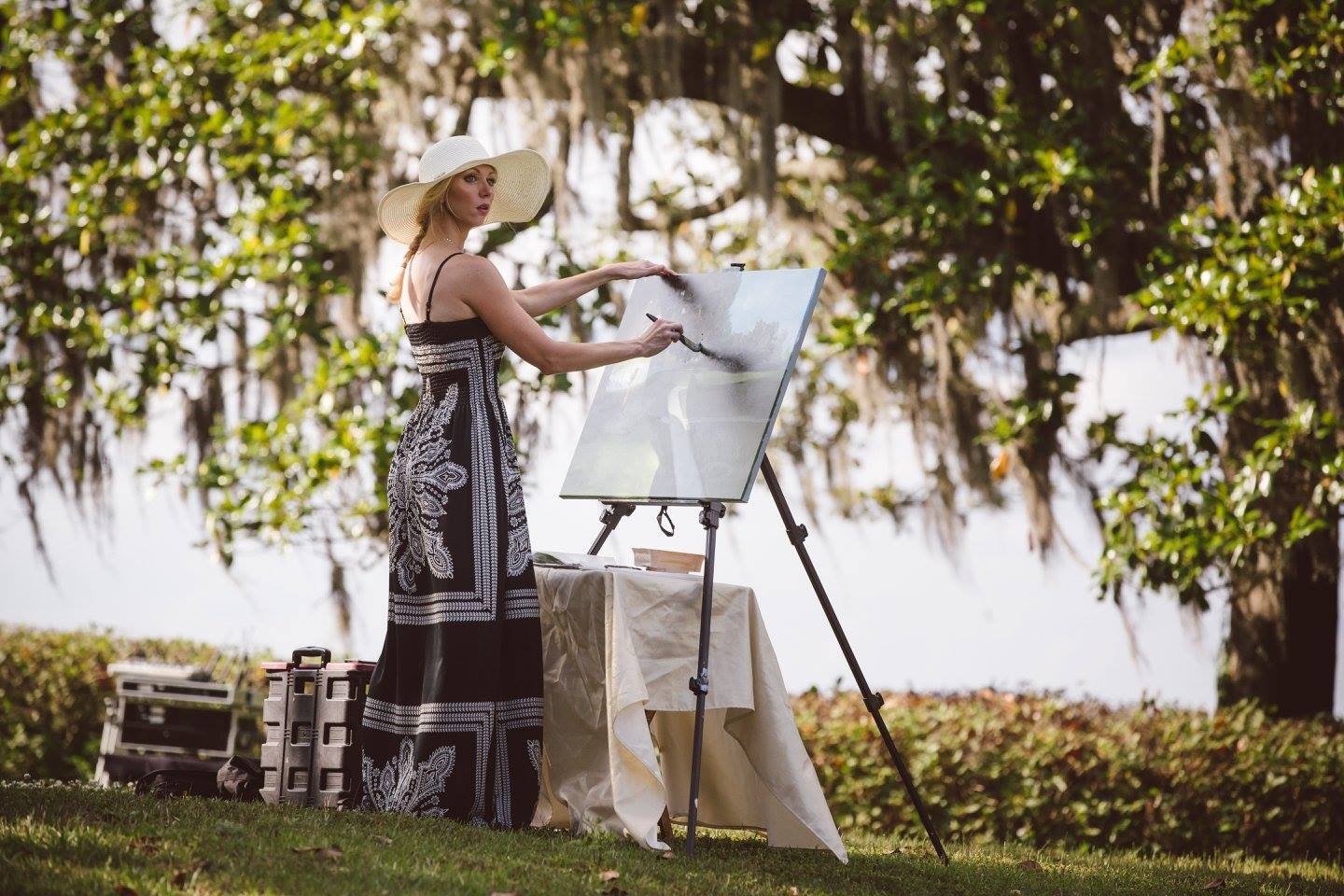 wedding painting at middleton platation