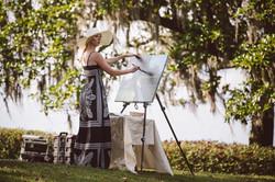 wedding painting at middleton platation