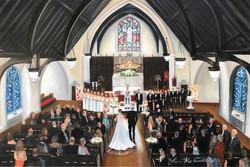 Church wedding painting