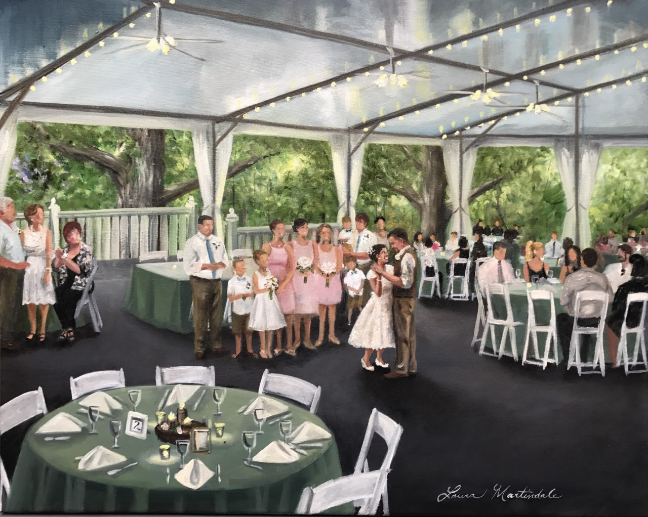 Barr Wedding Painting