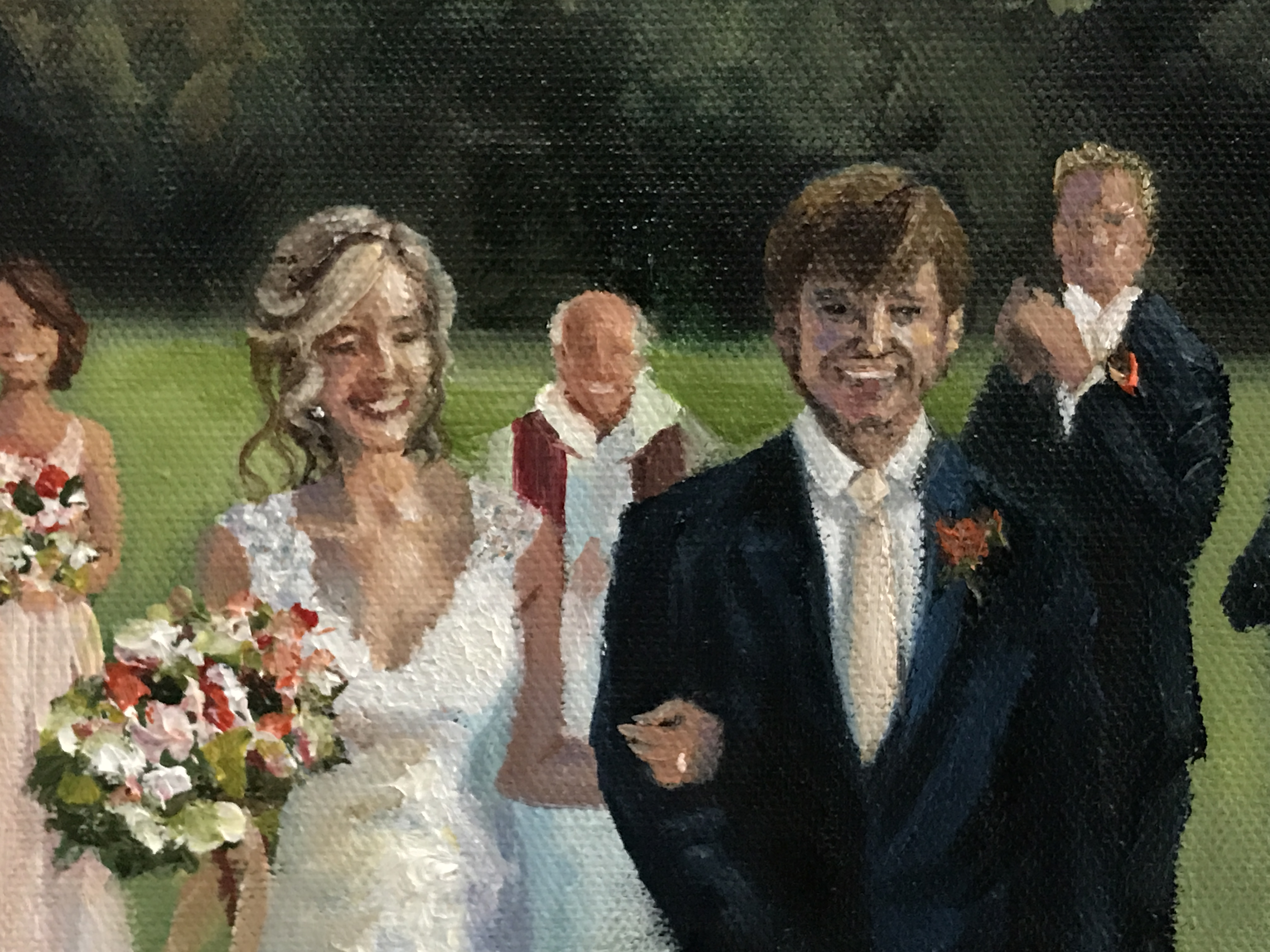 wedding painting detail