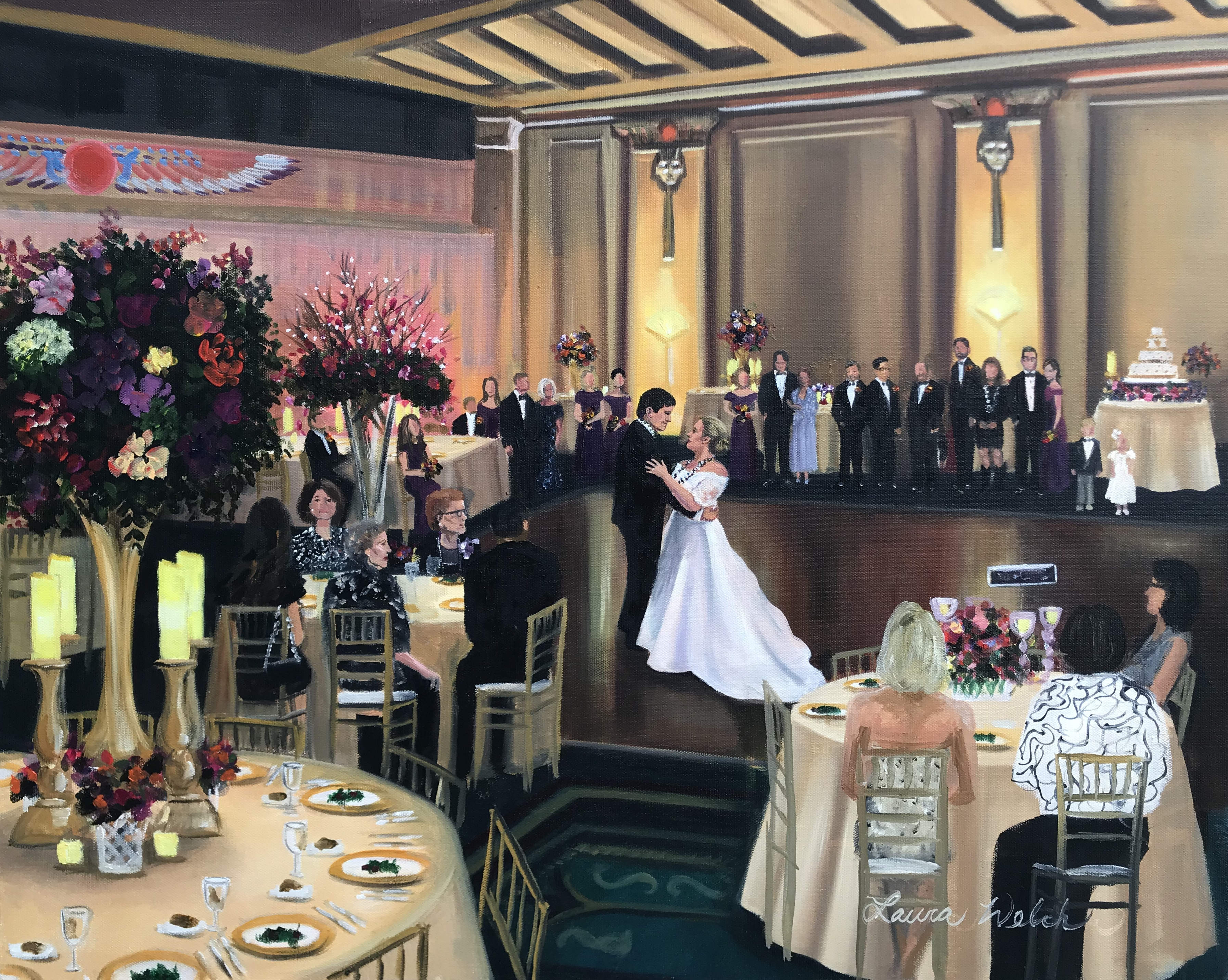 Fox Theater Wedding Painting