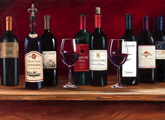 HyperRealistic Wine Bottle Still Life