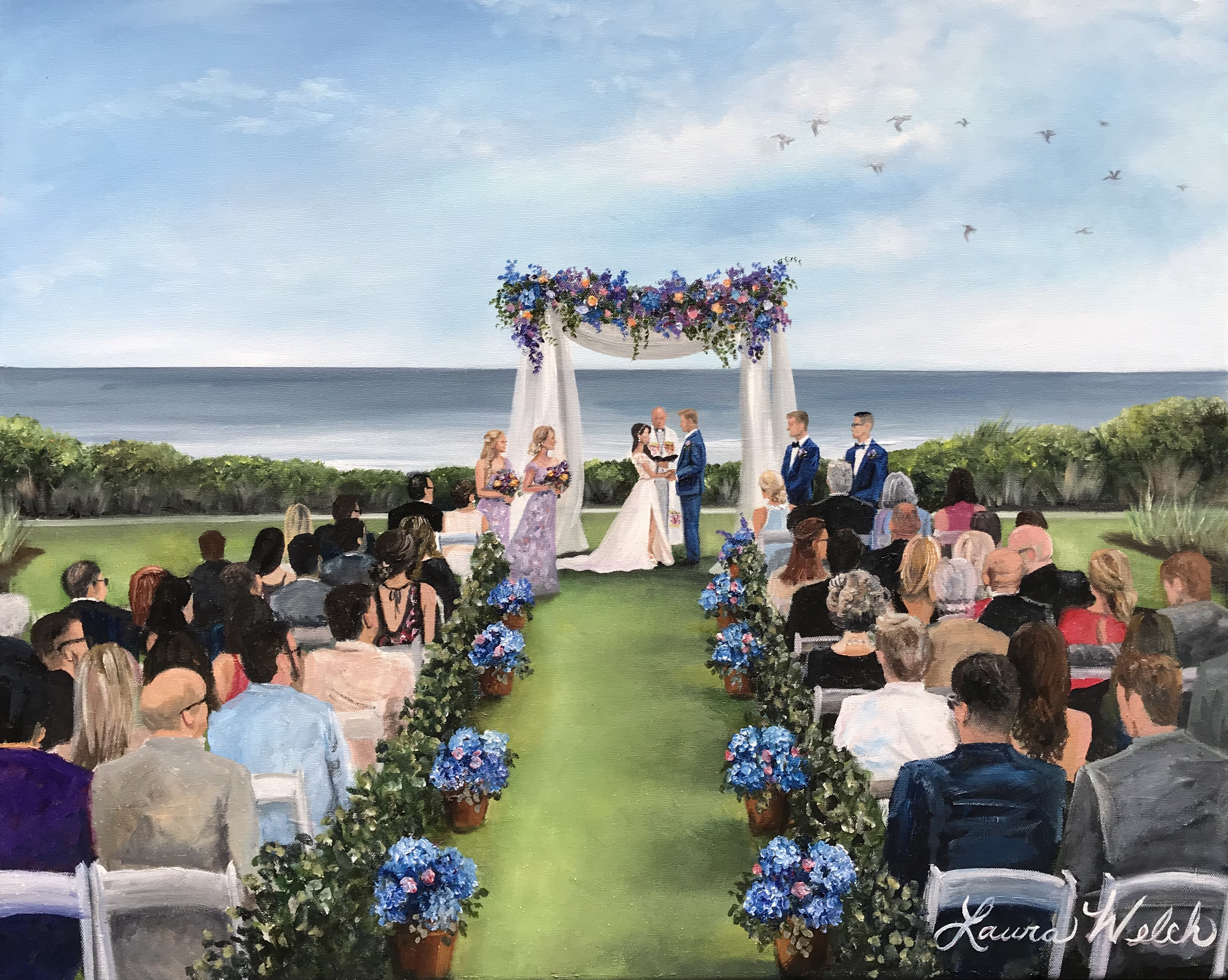 Kiawah Wedding Painting
