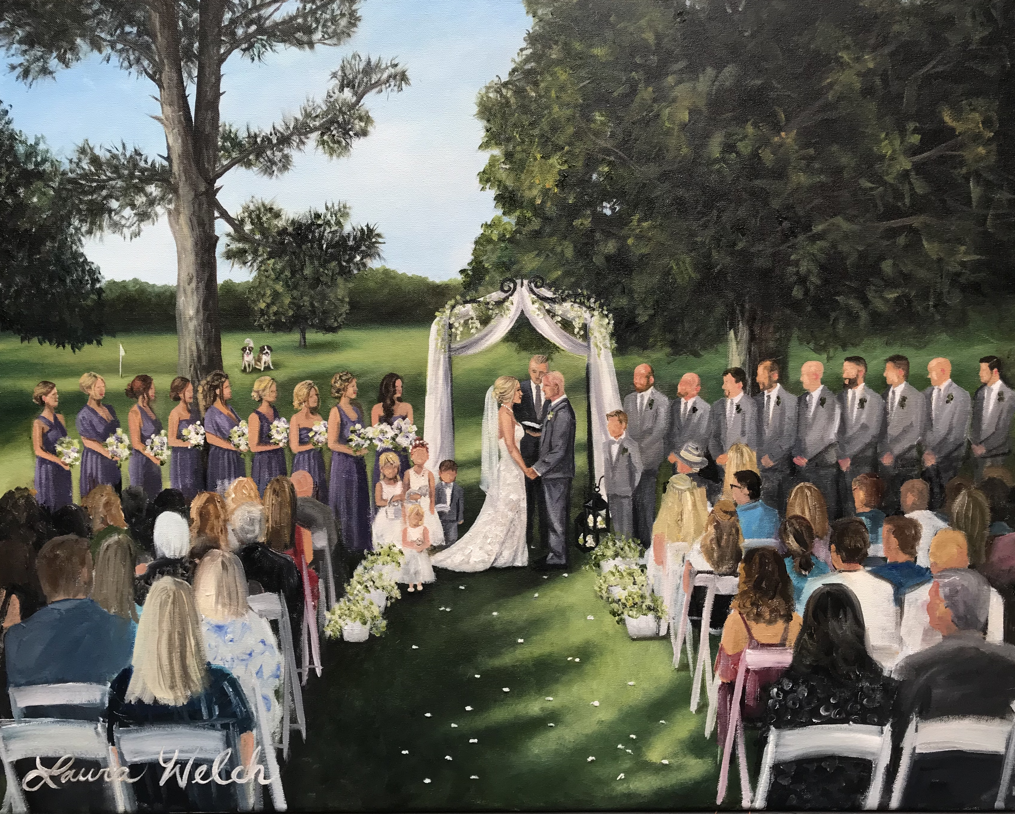 West Virginia Wedding Painting