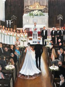 Wedding painting detail
