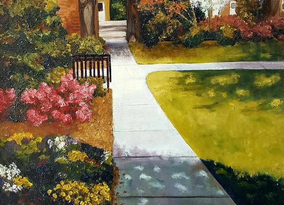 Sunlit Sidewalk