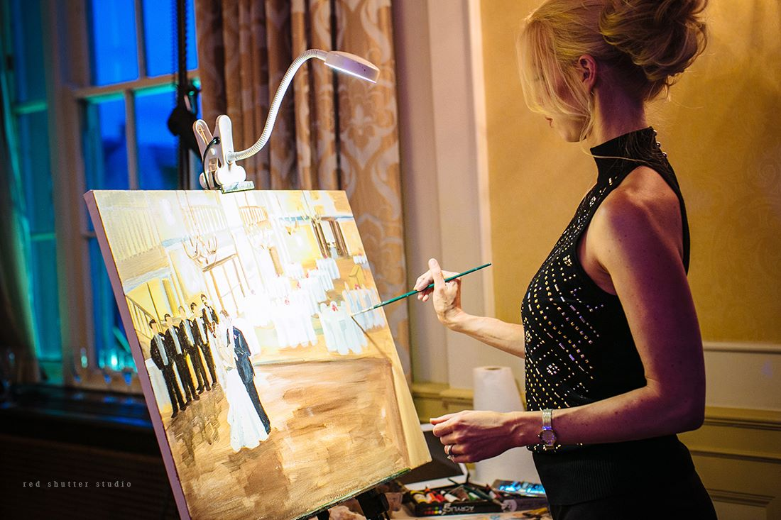 Live painting in action...