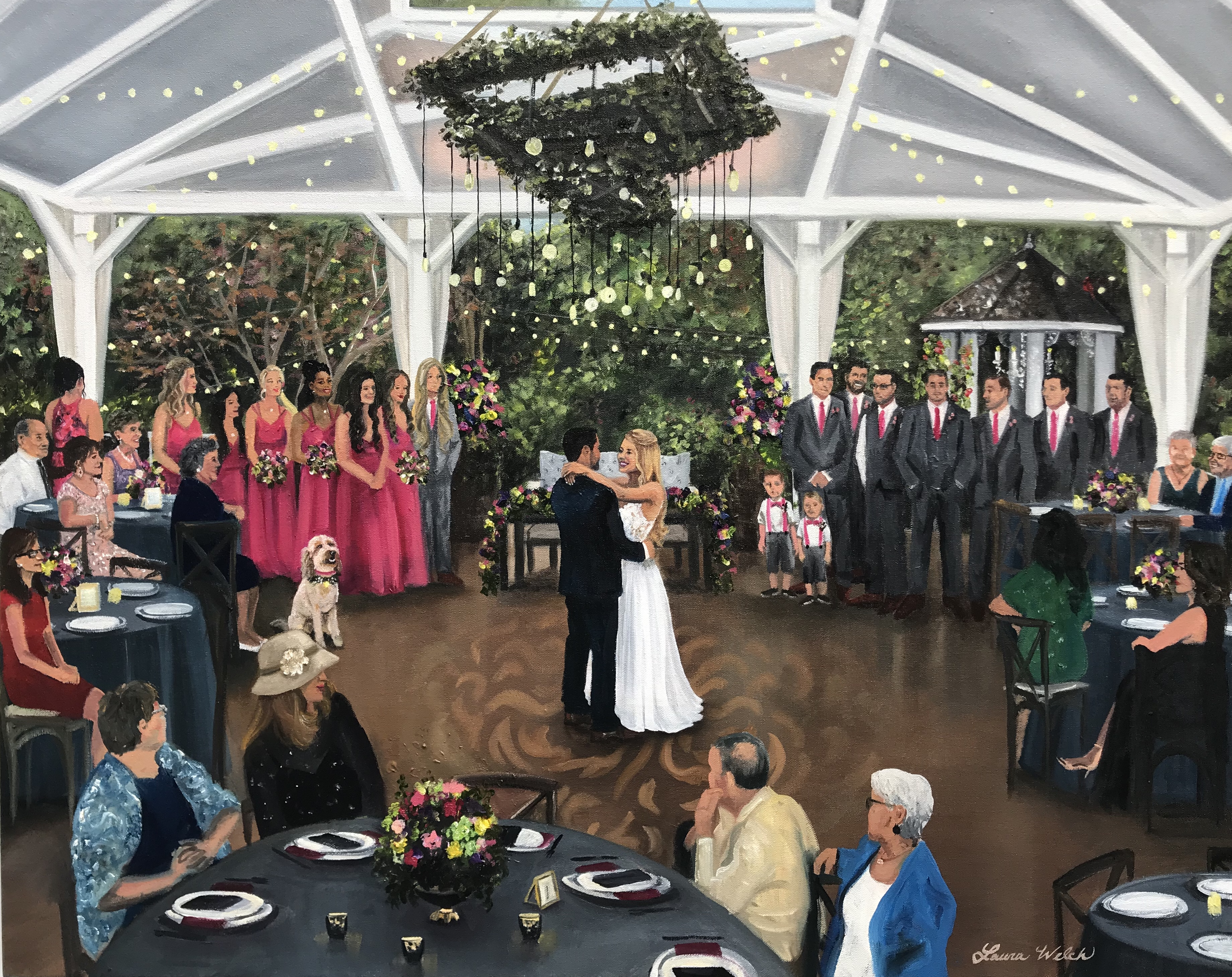 Franklin, TN Wedding Painting