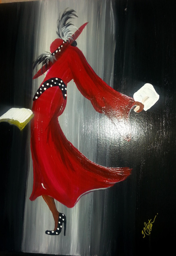 Red Lady Painting