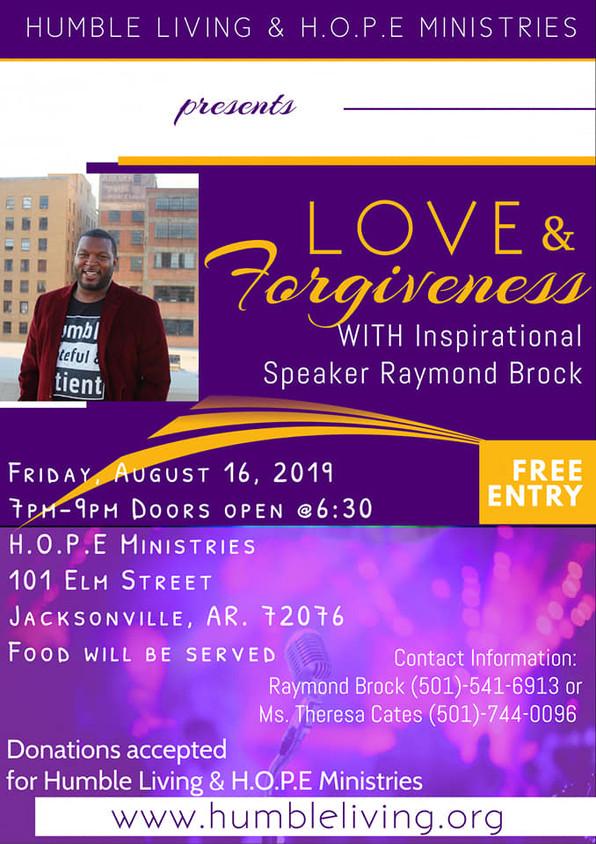 Join Me Tomorrow: Love & Forgiveness