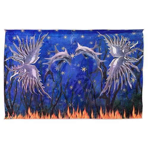 Star Sky Dolphins Rug